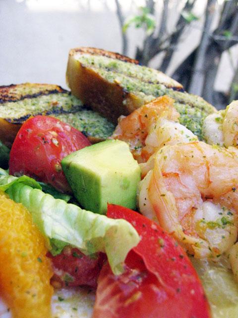 Tequila-lime Shrimp / Avocado Citrus Salad