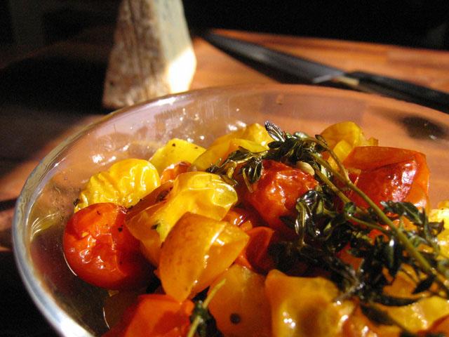 Roasted Baby Heirloom Tomatoes