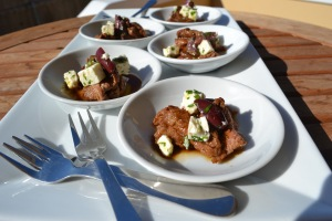 Lamb Ribeye w/ Feta & Kalamata